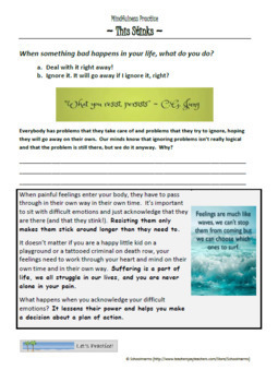Mindfulness Worksheet - This Stinks