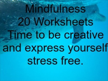 Mindfulness Worksheets with Listology Pack of 20.  Creative Literacy and more