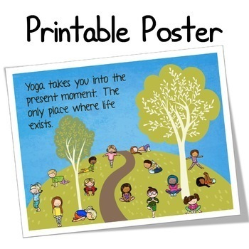 mindfulness activities yoga cards for kids and journal  tpt