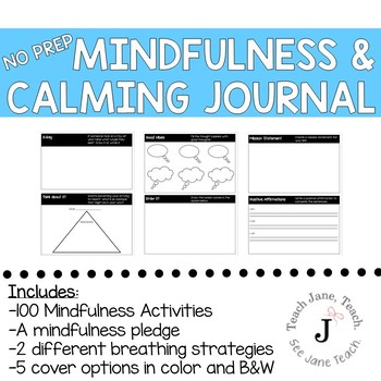 Mindfulness and Calming Journal