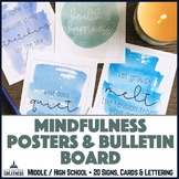 Mindfulness Posters and Bulletin Board