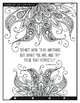 Mindfulness colouring Book with Inspirational Quotes