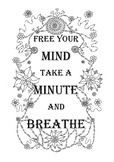 Mindfulness colouring page: breathe