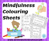 Mindfulness colouring sheets with positive quotes