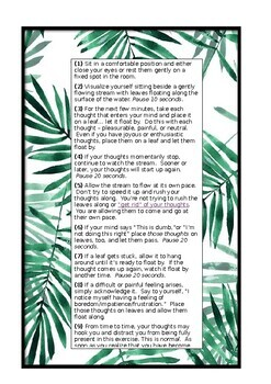 Mindfulness handout