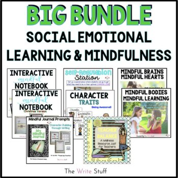 Social Emotional Learning and Growth Mindset BIG BUNDLE