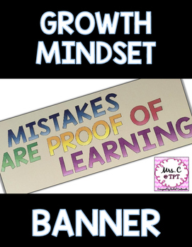 Mindset Banner - MISTAKES ARE PROOF OF LEARNING