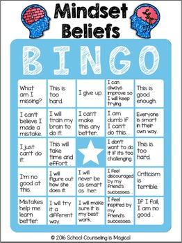 Mindset Beliefs Bingo (Growth Mindset Game)