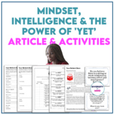 Mindset, Intelligence & The Power of 'Yet' Article & Activities