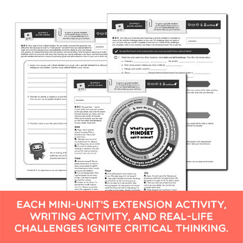 Mindset Middle School Bundle | Prezis & Printable Activities