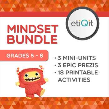 Mindset Middle School Bundle   Prezis & Printable Activities