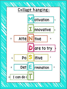 Mindset Posters (Fixed and Growth Statements,Mindset Collage)