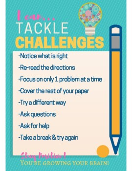 Mindset Poster: Strategies for Tackling Challenges