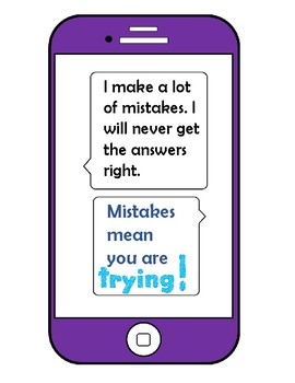 Mindset Posters, Bulletin Board  TEXT MESSAGES