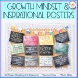Mindset Posters-Inspirational, Motivational, Chalkboard Themed
