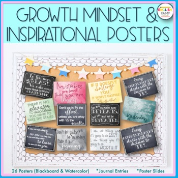 Mindset Posters-Inspirational, Motivational, Chalkboard Themed