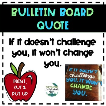 Mindset Quote Poster/ Bulletin Board Set