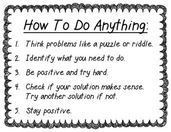 Mindset and Problem Solving
