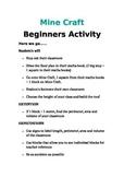 MineCraft Beginners Activity