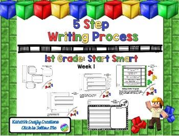 Minecraft: Five Step Writing Process: First Grade SS W1