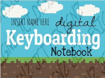 Mine Craft Inspired, Digital Keyboarding Notebook, Keyboarding lessons