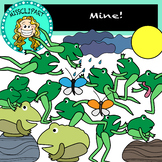 Jumping Frogs Clipart (Color and B&W){MissClipArt}