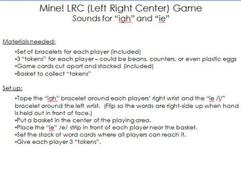 """Mine! LRC Game - sounds for """"igh"""" and """"ie"""""""