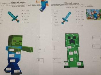 Minecraft Inegers
