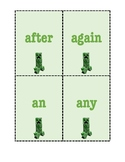 Minecract Dolch First Grade Sight Words Flashcard