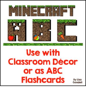 Minecraft ABCs Freebie