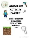 Minecraft Activity Packet