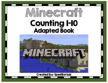 Minecraft Adapted Book (Counting 1-10)