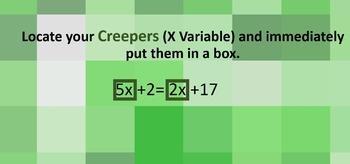 Minecraft Algebra - Basic Two Variable Equations