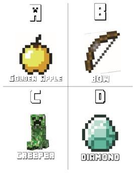 Minecraft Alphabet Flashcards