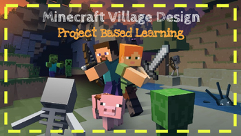 Minecraft Area and Perimeter Project Based Learning 4.MD.3  3.MD.8
