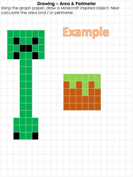 Minecraft Area and Perimeter Worksheets