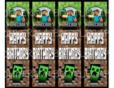 Minecraft - Birthday Bookmark