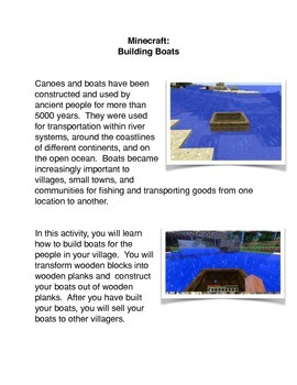 Minecraft:  Building Boats