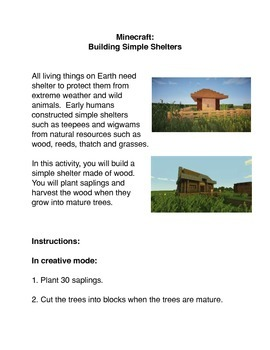 Minecraft: Building Simple Shelters