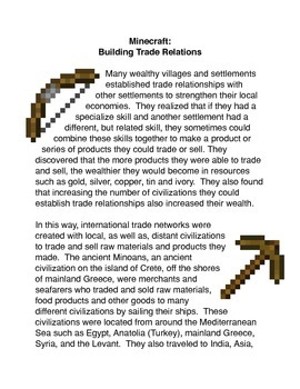 Minecraft: Building Trade Relations