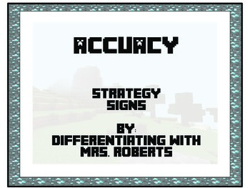 Minecraft CAFE Accuracy Strategy Signs