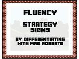 Minecraft CAFE Fluency Strategy Signs