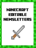 Minecraft Classroom Theme - Edible Newsletters