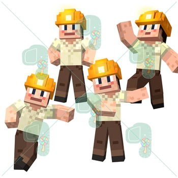 Minecraft Clip Art- Pixel Craft Pete