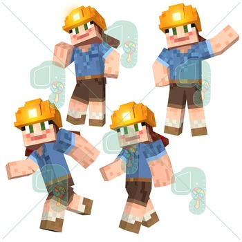 Minecraft Clip art- Pixel Craft Molly