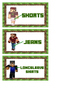 Minecraft Clothes Labels