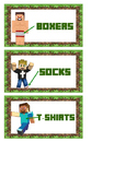 Minecraft Clothes Labels