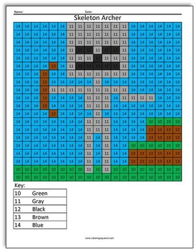 minecraft color by number by coloring squared tpt