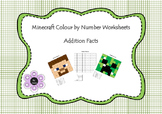 Minecraft Colour by Number - Addition Facts