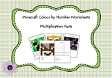 Minecraft Colour by Number - Multiplication Facts